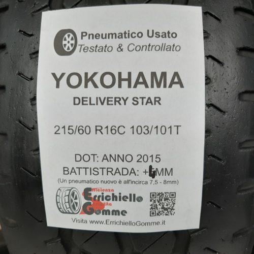 215/60 R16C 103/101T Yokohama Delivery Star – 50% +4mm Gomme Estive Trasporto