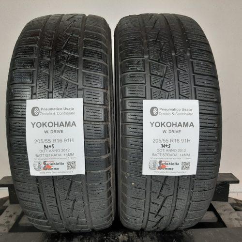 205/55 R16 91H M+S Yokohama W. Drive – 50% +4mm Gomme Invernali