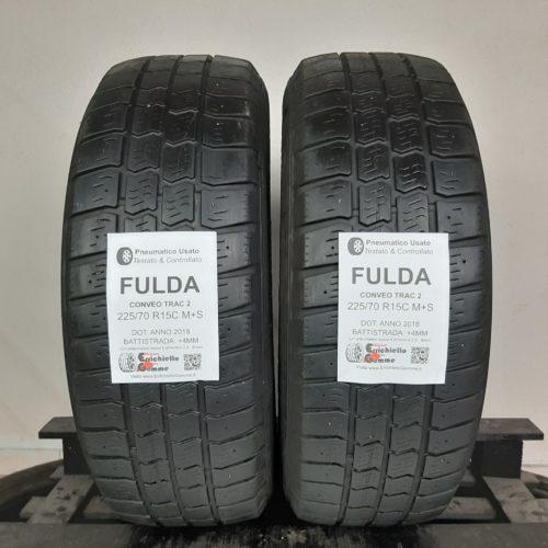 225/70 R15C 112R M+S Fulda Conveo Trac 2 –  50% +4mm Gomme Trasporto 4 Stagioni