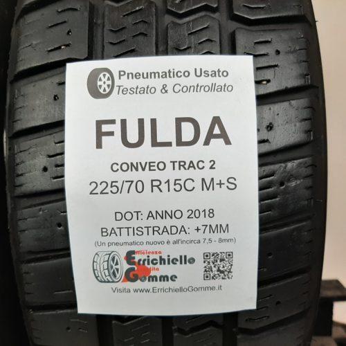 225/70 R15C 112R M+S Fulda Conveo Trac 2 –  90% +7mm Gomme Trasporto 4 Stagioni