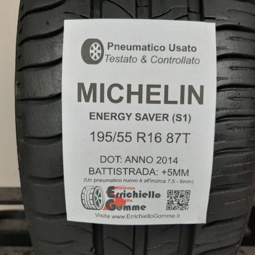 195/55 R16 87T Michelin Energy Saver (S1) – 60% +5mm – Gomma Estiva