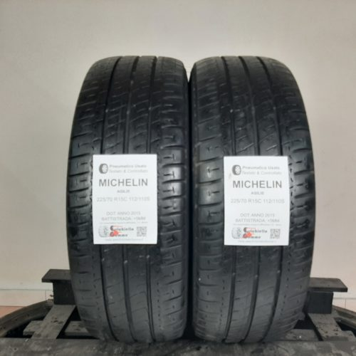 225/70 R15C 112/110S Michelin Agilis – 60% +5mm – Gomme Estive Trasporto