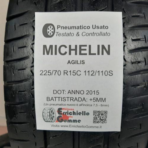 225/70 R15C 112/110S Michelin Agilis – 60% +5mm – Gomme Estive Trasporto
