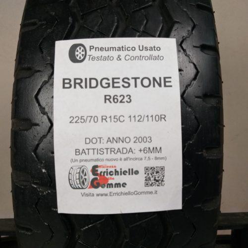 225/70 R15C 112/110R Bridgestone R623 – 70% +6mm Gomma Estiva Trasporto