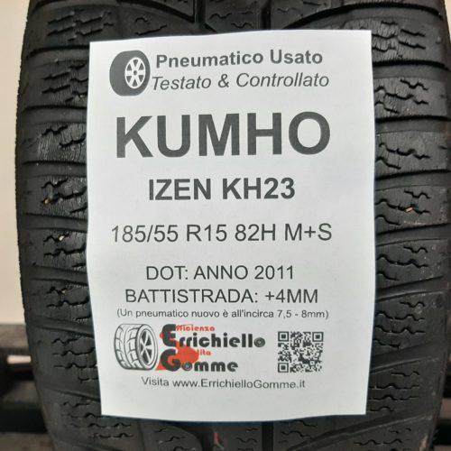 185/55 R15 82H M+S Kumho Izen KH23 – 50% +4mm – Gomma Invernale