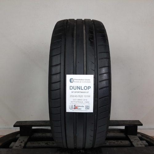 255/45 R20 101W Dunlop SP SportMaxx GT – 60% +5mm Gomma Estiva