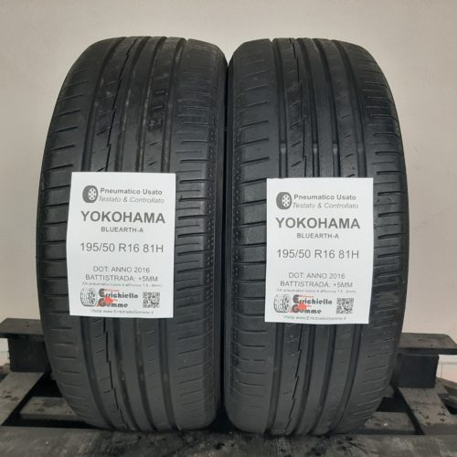 195/50 R16 81H Yokohama Bluearth-A –  60% +5mm – Gomme Estive