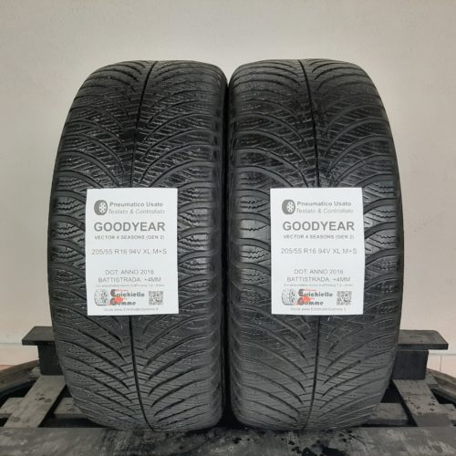 205/55 R16 91H M+S Goodyear UltraGrip 9 – 50% +4mm – Gomme Invernali