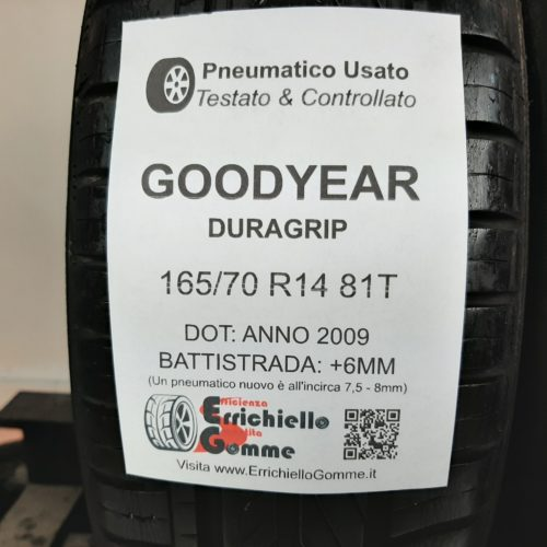 165/70 R14 81T Goodyear Duragrip – 70% +6mm – Gomme Estive