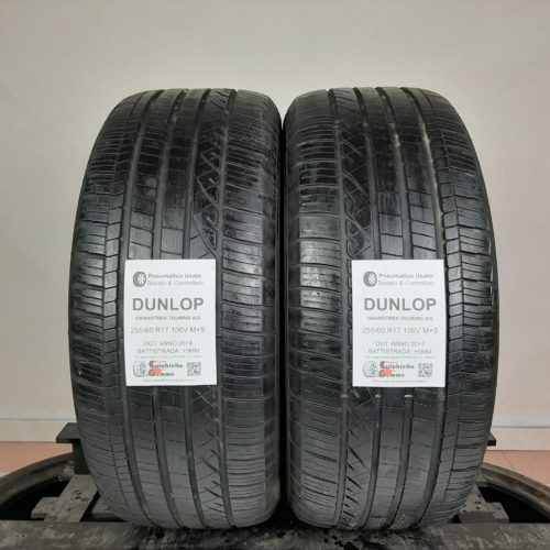 255/60 R17 106V M+S Dunlop GrandTrek Touring A/S – 60% +5mm – Gomme 4 Stagioni