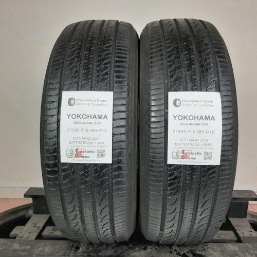 215/65 R16 98H M+S Yokohama Geolandar SUV – 60% +5mm – Gomme 4 Stagioni