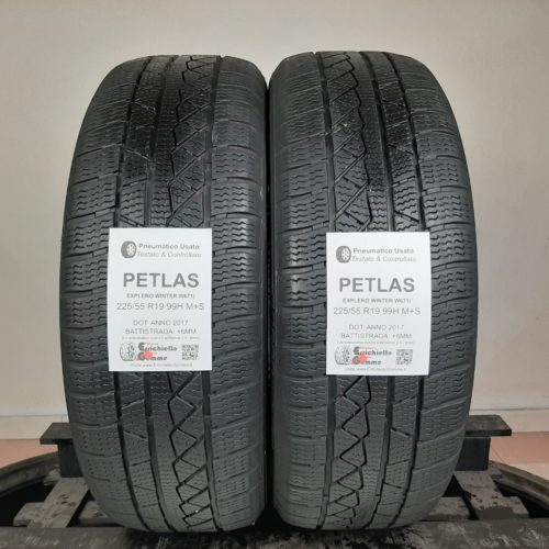 225/55 R19 99H M+S Petlas Explero Winter W671 –  70% +6mm – Gomme Invernali