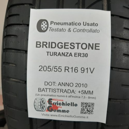 205/55 R16 91V Bridgestone Turanza ER30 – 60% +5mm – Gomme Estive