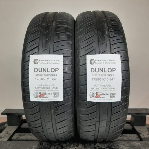 175/65 R15 84T Dunlop Street Response 2 –  60% +5mm – Gomme Estive