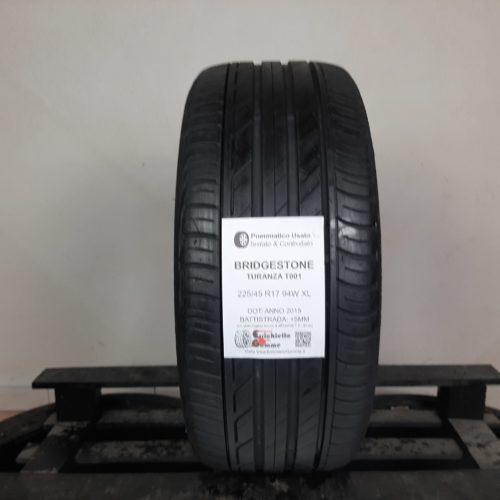 225/45 R16 94W XL Bridgestone Turanza T001 – 60% +5mm – Gomma Estiva