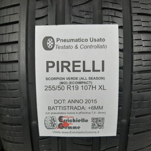 255/50 R19 107H XL Pirelli Scorpion Verde (All Season) (MO) (EcoImpact) –  70% +6mm – Gomma 4 Stagioni