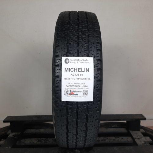 185/75 R16 104/102R M+S Michelin Agilis 81 – 70% 6mm Gomma 4 Stagioni Trasporto
