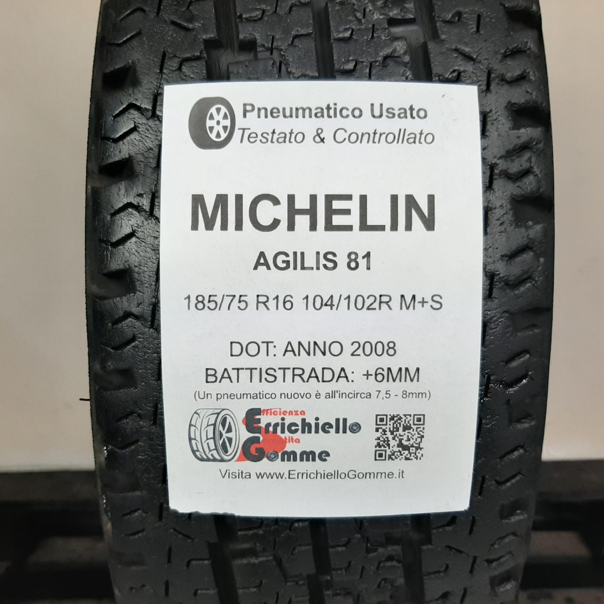 Veicoli commerciali leggeri MICHELIN AGILIS ALPIN B//E//70dB 185//75//16 104R Pneumatici Invernali