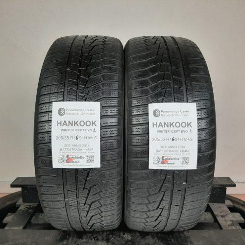 205/55 R15 91H M+S Hankook Winter Icept Evo 2 –  50% +4mm – Gomme Invernali