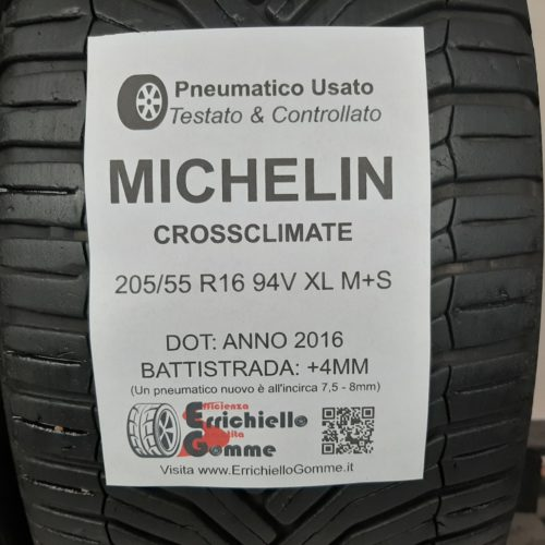 205/55 R16 94V XL M+S Michelin CrossClimate – 50% +4mm – Gomme 4 Stagioni