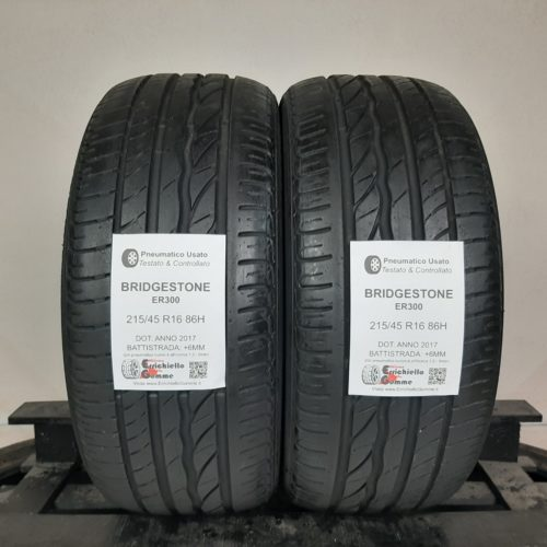 215/45 R16 86H Bridgestone Turanza ER300 + 60% +5mm – Gomme Estive