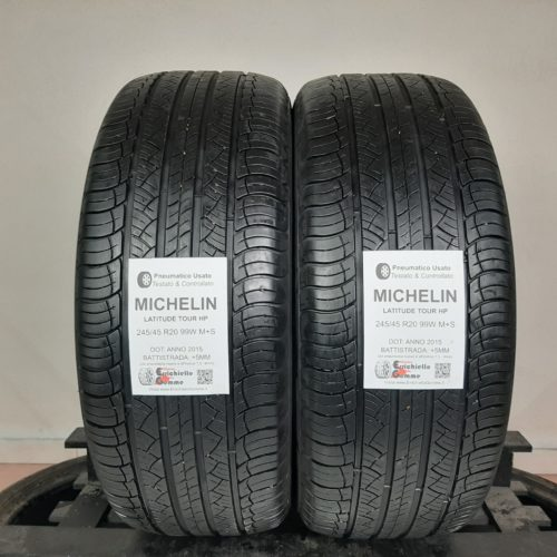 245/45 R20 99W M+S Michelin Latitude Tour HP –  60% +5mm – Gomme 4 Stagioni