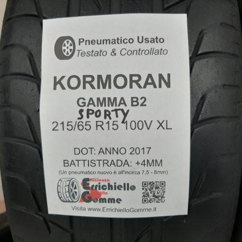 215/65 R15 100V XL Kormoran Gamma B2 Sporty – 50% +4mm – Gomme Estive