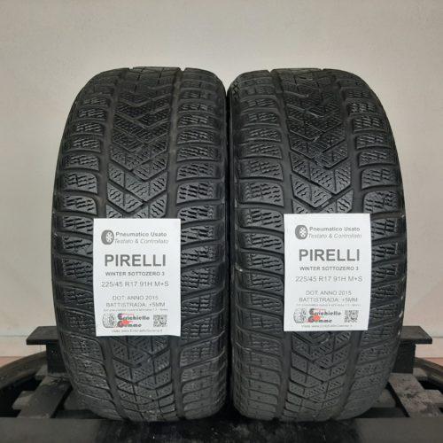 225/45 R17 91H M+S Pirelli Winter Sottozero 3 + 60% +5mm – Gomme Invernali