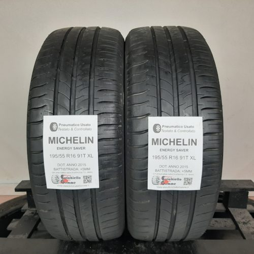 195/55 R16 91T XL Michelin Energy Saver + 60% +5mm Gomme Estive