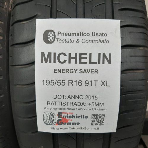 195/55 R16 91T XL Michelin Energy Saver + 60% +5mm Gomme Estive
