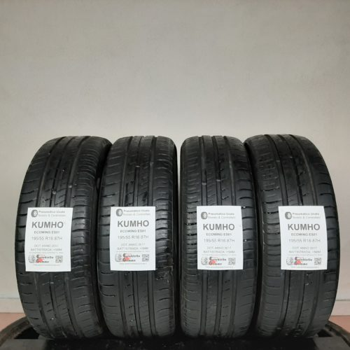 195/55 R16 87H Kumho EcoWing ES01 + 60% +5mm – Gomme Estive