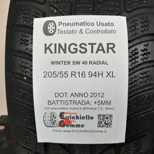 205/55 R16 94H XL KingStar Winter SW40 Radial + 60% +5mm – Gomme Invernali