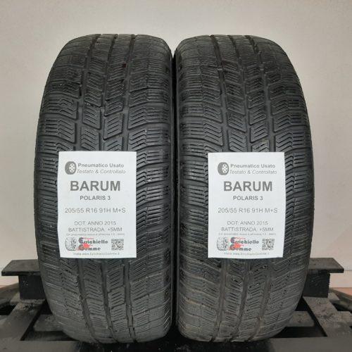 205/55 R16 91H M+S Barum Polaris 3 + 60% +5mm – Gomme Invernali