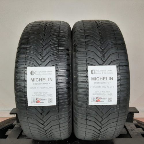 215/55 R17 98W XL M+S Michelin CrossClimate+ 60% +5mm – Gomme 4 Stagioni