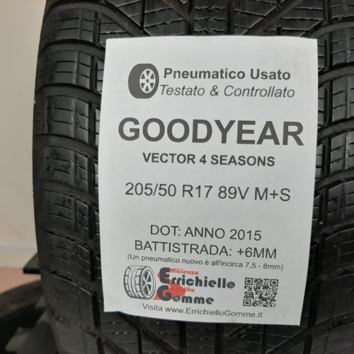 205/50 R17 89V M+S Goodyear 4S – 70% +6mm – Gomme 4 Stagioni