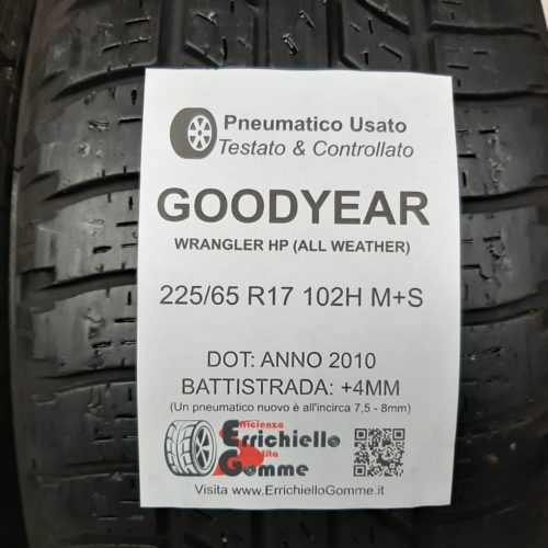 225/65 R17 102H M+S Goodyear Wrangler HP (All Weather) + 50% +4mm – Gomme 4 Stagioni