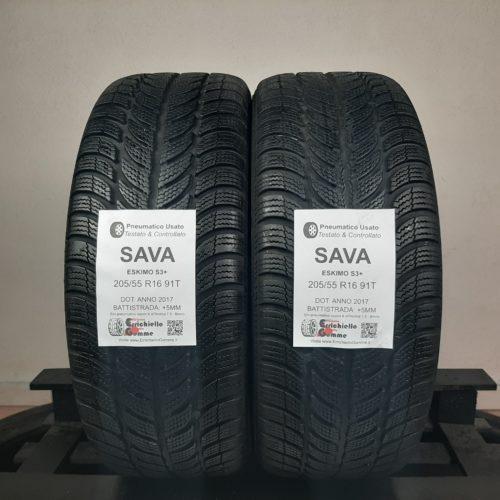205/55 R16 91T M+S Sava Eskimo S3+ – 60% +5mm – Gomme Invernali