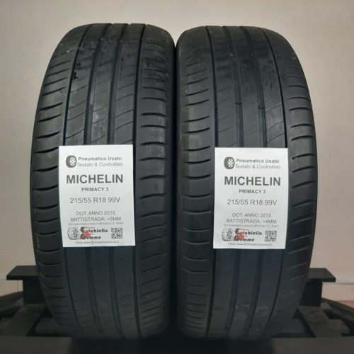 215/55 R18 99V Michelin Primacy 3 – 50% +4mm – Gomme Estive