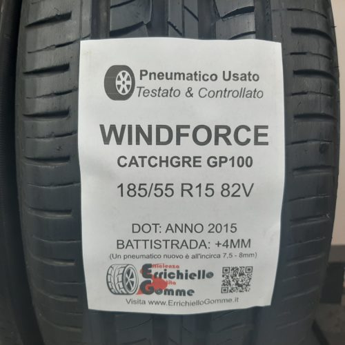 185/55 R15 82V Windforce CatchGre GP100 – 50% +4mm – Gomme Estive