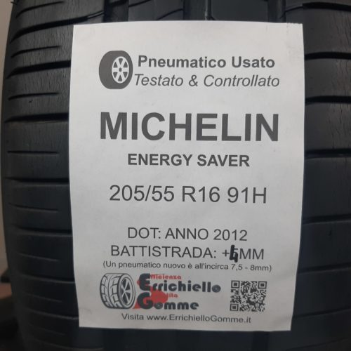 205/55 R16 91H Michelin Energy Saver – 50% +4mm – Gomme Estive
