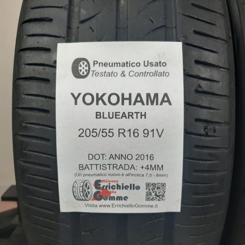 205/55 R16 91V Yokohama Bluearth – 50% +4mm – Gomme Estive