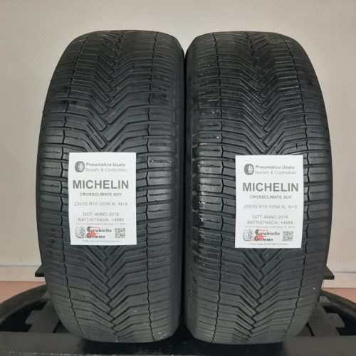 235/55 R19 105W XL M+S Michelin CrossClimate SUV – 50% +4mm Gomme 4 Stagioni