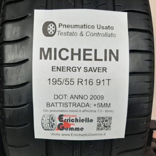 195/55 R16 91T Michelin Energy Saver – 60% +5mm – Gomme Estive