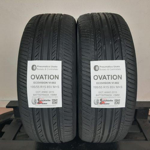 195/55 R15 85V M+S Ovation EcoVision VI-682 –  60% +5mm – Gomme 4 Stagioni