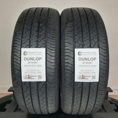 235/55 R18 100H Dunlop SP Sport –  60% +5mm – Gomme Estive