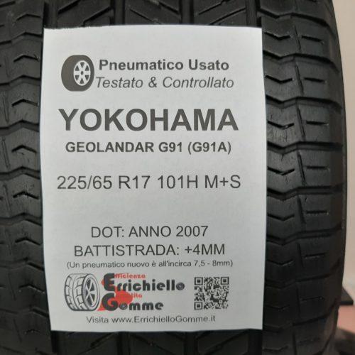 225/65 R17 101H M+S Yokohama Geolandar G91 (G91A) + 50% +4mm – Gomme 4 Stagioni