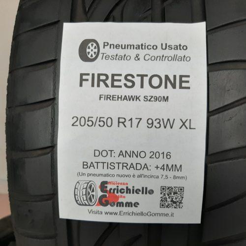 205/50 R17 93W XL Firestone Firehawk SZ90M +  50% +4mm Gomme Estive