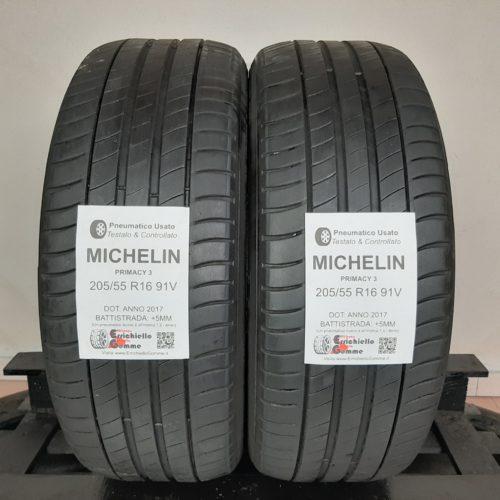 205/55 R16 91V Michelin Primacy 3 + 60% +5mm Gomme Estive