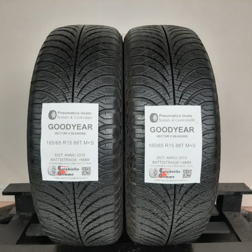 185/65 R15 88T M+S Goodyear Vector 4 Seasons + 70% +6mm – Gomme 4 Stagioni