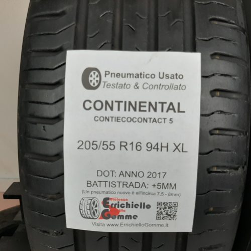 205/55 R16 94H XL Continental ContiEcoContact 5 + 60% +5mm – Gomme Estive